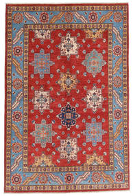 Kazak Vloerkleed 158X237 Echt Oosters Handgeknoopt Donkerrood/Roestkleur (Wol, Afghanistan)