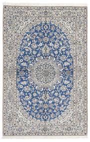 Nain 9La Vloerkleed 168X255 Echt Oosters Handgeknoopt Lichtgrijs/Blauw (Wol/Zijde, Perzië/Iran)