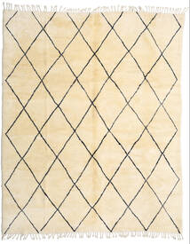 Berber Moroccan - Beni Ourain Vloerkleed 280X345 Echt Modern Handgeknoopt Beige/Donkerbeige Groot (Wol, Marokko)