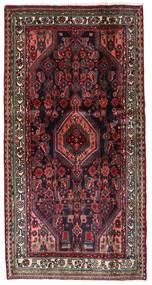 Hamadan Vloerkleed 104X202 Echt Oosters Handgeknoopt Donkerrood/Donkerbruin (Wol, Perzië/Iran)