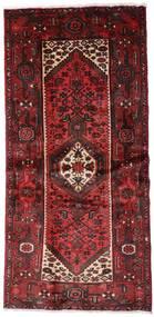 Hamadan Vloerkleed 100X205 Echt Oosters Handgeknoopt Donkerrood (Wol, Perzië/Iran)
