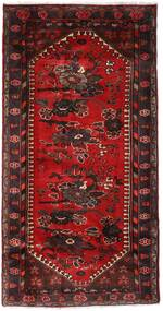 Hamadan Vloerkleed 102X193 Echt Oosters Handgeknoopt Donkerrood/Donkerbruin (Wol, Perzië/Iran)
