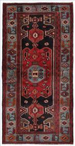 Hamadan Vloerkleed 104X207 Echt Oosters Handgeknoopt Donkerrood/Donkerbruin (Wol, Perzië/Iran)