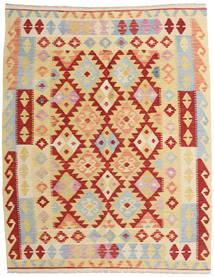 Kelim Afghan Old Style Vloerkleed 155X192 Echt Oosters Handgeweven Donkerbeige/Donkerrood (Wol, Afghanistan)