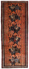 Afshar Vloerkleed 107X265 Echt Oosters Handgeknoopt Tapijtloper Donkerbruin/Rood (Wol, Perzië/Iran)