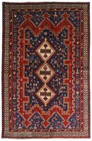 Afshar Vloerkleed 146X224 Echt Oosters Handgeknoopt Donkerrood/Donkerblauw (Wol, Perzië/Iran)