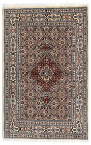 Moud Vloerkleed 80X122 Echt Oosters Handgeknoopt Donkerbruin/Beige (Wol/Zijde, Perzië/Iran)