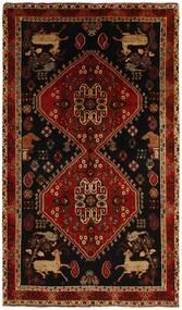 Ghashghai Vloerkleed 155X263 Echt Oosters Handgeknoopt Donkerbruin/Donkerrood (Wol, Perzië/Iran)