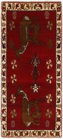 Ghashghai Vloerkleed 85X183 Echt Oosters Handgeknoopt Tapijtloper Donkerrood/Donkerbruin (Wol, Perzië/Iran)