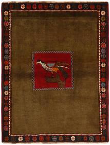 Ghashghai Vloerkleed 130X170 Echt Oosters Handgeknoopt Bruin/Donkerbruin (Wol, Perzië/Iran)