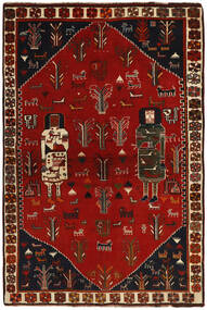Ghashghai Vloerkleed 136X203 Echt Oosters Handgeknoopt Donkerbruin/Donkerrood (Wol, Perzië/Iran)