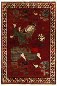 Ghashghai Vloerkleed 124X184 Echt Oosters Handgeknoopt Rood/Donkerbruin (Wol, Perzië/Iran)