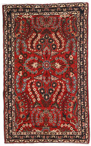 Lillian Vloerkleed 80X128 Echt Oosters Handgeknoopt Donkerbruin/Donkerrood (Wol, Perzië/Iran)
