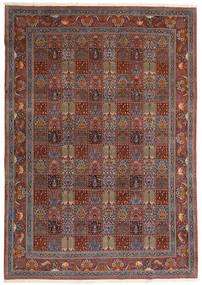 Moud Vloerkleed 246X350 Echt Oosters Handgeknoopt Donkerrood/Bruin (Wol/Zijde, Perzië/Iran)