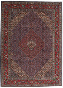 Tabriz 40 Raj Vloerkleed 252X344 Echt Oosters Handgeknoopt Donkerbruin/Donkerrood Groot (Wol/Zijde, Perzië/Iran)