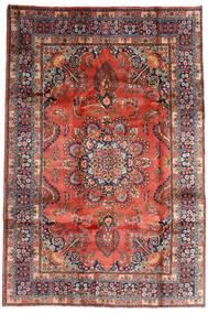Mashad Vloerkleed 196X290 Echt Oosters Handgeknoopt Donkerrood/Donkerpaars (Wol, Perzië/Iran)