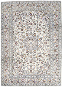 Keshan Vloerkleed 250X346 Echt Oosters Handgeknoopt Lichtgrijs/Beige Groot (Wol, Perzië/Iran)