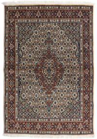 Moud Vloerkleed 98X143 Echt Oosters Handgeknoopt Lichtgrijs/Zwart (Wol/Zijde, Perzië/Iran)