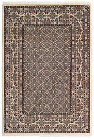 Moud Vloerkleed 100X146 Echt Oosters Handgeknoopt Donkerbruin/Beige (Wol/Zijde, Perzië/Iran)