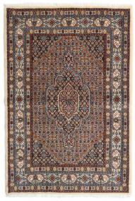 Moud Vloerkleed 98X147 Echt Oosters Handgeknoopt Donkerbruin/Donkerrood (Wol/Zijde, Perzië/Iran)
