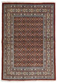 Moud Vloerkleed 97X141 Echt Oosters Handgeknoopt Donkerbruin/Donkergrijs (Wol/Zijde, Perzië/Iran)