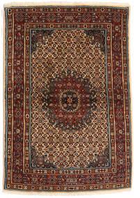 Moud Vloerkleed 100X150 Echt Oosters Handgeknoopt Donkerbruin/Donkerrood (Wol/Zijde, Perzië/Iran)
