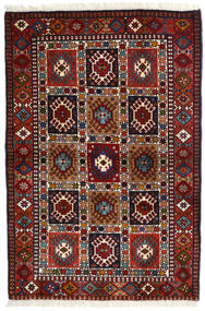 Yalameh Vloerkleed 104X154 Echt Oosters Handgeknoopt Donkerrood (Wol, Perzië/Iran)