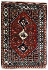 Yalameh Vloerkleed 109X155 Echt Oosters Handgeknoopt Donkerrood/Donkergrijs (Wol, Perzië/Iran)