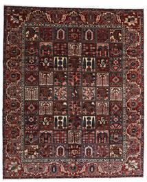 Bakhtiar Vloerkleed 320X384 Echt Oosters Handgeknoopt Donkerrood/Zwart Groot (Wol, Perzië/Iran)
