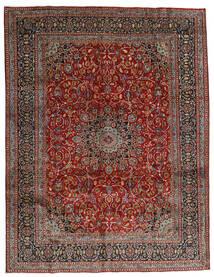 Mashad Vloerkleed 297X383 Echt Oosters Handgeknoopt Donkerrood/Donkergrijs Groot (Wol, Perzië/Iran)
