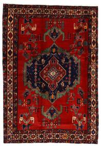 Afshar Vloerkleed 169X243 Echt Oosters Handgeknoopt Donkerrood/Roestkleur (Wol, Perzië/Iran)
