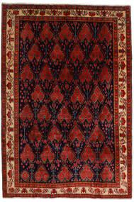 Afshar Vloerkleed 200X297 Echt Oosters Handgeknoopt Donkerbruin/Donkerrood/Roestkleur (Wol, Perzië/Iran)