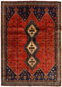 Afshar Vloerkleed 176X248 Echt Oosters Handgeknoopt Donkerbruin/Roestkleur (Wol, Perzië/Iran)