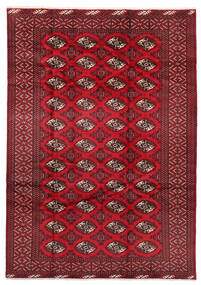 Turkaman Vloerkleed 199X282 Echt Oosters Handgeknoopt Donkerrood/Rood (Wol, Perzië/Iran)