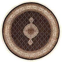 Tabriz Royal Vloerkleed Ø 151 Echt Oosters Handgeknoopt Rond Donkerrood/Bruin ( India)