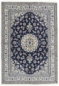 Nain Vloerkleed 163X236 Echt Oosters Handgeknoopt Lichtgrijs/Donkerpaars (Wol, Perzië/Iran)