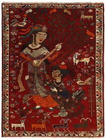Ghashghai Vloerkleed 119X158 Echt Oosters Handgeknoopt Donkerrood/Donkerbruin (Wol, Perzië/Iran)