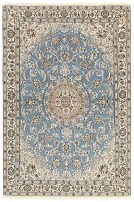 Nain 9La Vloerkleed 118X177 Echt Oosters Handgeknoopt Lichtgrijs/Beige (Wol/Zijde, Perzië/Iran)