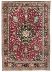 Tabriz 50 Raj Vloerkleed 242X325 Echt Oosters Handgeknoopt Lichtgrijs/Donkerrood (Wol, Perzië/Iran)
