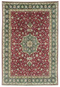 Tabriz 50 Raj Vloerkleed 245X362 Echt Oosters Handgeknoopt Donkergrijs/Donkerrood (Wol, Perzië/Iran)