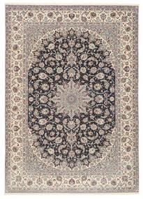 Isfahan Zijden Pool Vloerkleed 253X360 Echt Oosters Handgeknoopt Lichtgrijs/Zwart Groot (Wol/Zijde, Perzië/Iran)