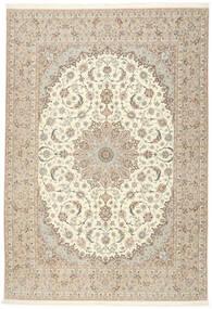 Isfahan Zijden Pool Vloerkleed 255X366 Echt Oosters Handgeknoopt Beige/Lichtgrijs Groot (Wol/Zijde, Perzië/Iran)