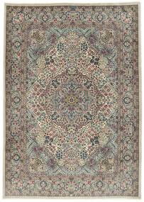 Kerman Sherkat Farsh Vloerkleed 250X350 Echt Oosters Handgeknoopt Lichtgrijs/Donkergrijs Groot (Wol/Zijde, Perzië/Iran)