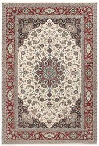 Isfahan Zijden Pool Vloerkleed 250X360 Echt Oosters Handgeknoopt Lichtgrijs/Beige Groot (Wol/Zijde, Perzië/Iran)