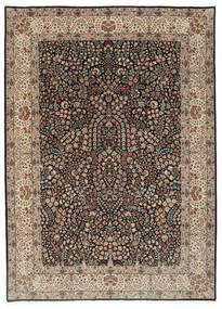 Kerman Lavar Vloerkleed 250X348 Echt Oosters Handgeknoopt Lichtgrijs/Zwart Groot (Wol/Zijde, Perzië/Iran)