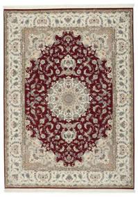 Tabriz 50 Raj Met Zijde Vloerkleed 248X347 Echt Oosters Handgeknoopt Lichtgrijs/Donkerrood (Wol/Zijde, Perzië/Iran)