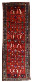 Hamadan Vloerkleed 108X304 Echt Oosters Handgeknoopt Tapijtloper Donkerrood/Roestkleur/Zwart (Wol, Perzië/Iran)