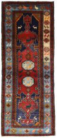 Hamadan Vloerkleed 111X279 Echt Oosters Handgeknoopt Tapijtloper Donkerrood/Donkerbruin (Wol, Perzië/Iran)