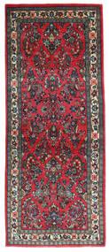 Sarough Vloerkleed 79X198 Echt Oosters Handgeknoopt Tapijtloper Zwart/Donkerblauw (Wol, Perzië/Iran)