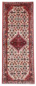Hamadan Vloerkleed 73X191 Echt Oosters Handgeknoopt Tapijtloper Donkerrood/Donkerbruin (Wol, Perzië/Iran)